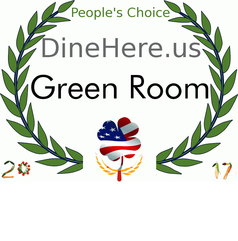 Green Room DineHere.us 2017 Award Winner